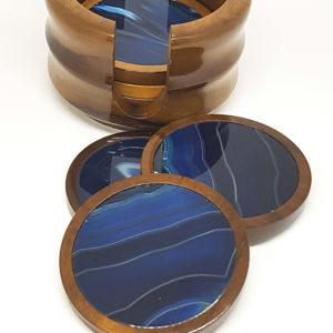 Porta copos Ágata Azul