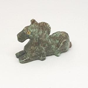 Escultura cavalo miniatura Pedra Jaspe