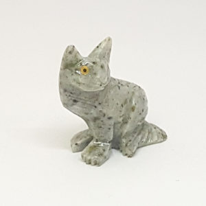 Escultura gato miniatura Pedra Jaspe