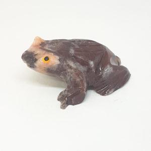 Escultura sapo miniatura Pedra Jaspe