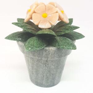 Vaso de flor grande Pedra Jaspe Rosa