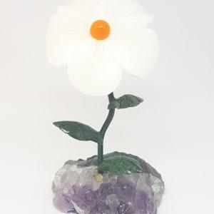 Flor grande Quartzo Branco