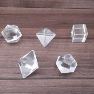 Kit sólidos platônicos Cristal