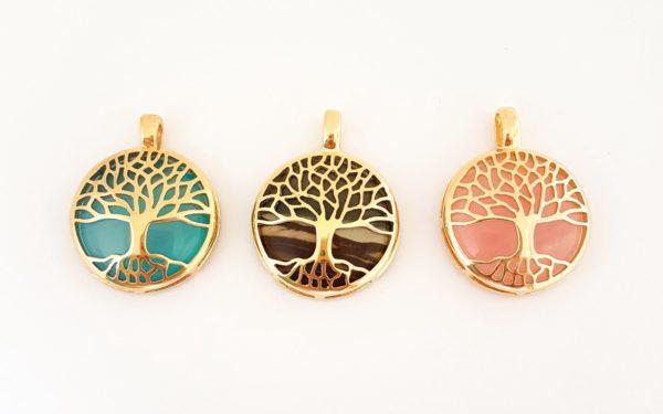 Pingente árvore da vida Pedras Diversas 3