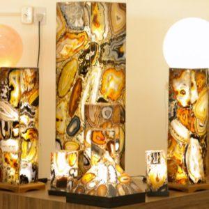 Luminárias de Chapa de Ágata
