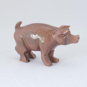 Escultura porco Jaspe